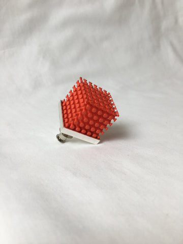 Large Cube Brooch