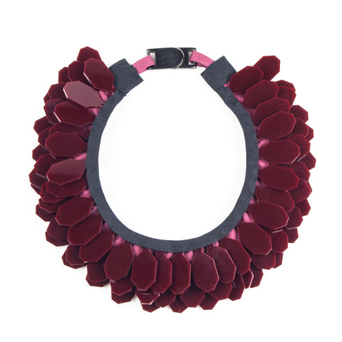 Elemental Burgundy Necklace