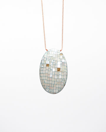 Snowy Day Two-Sided Reversible Pendant Necklace