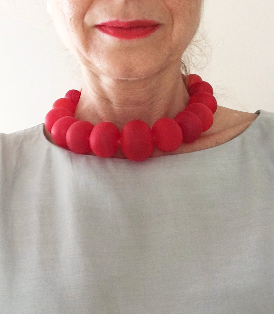 Red Bubble Necklace