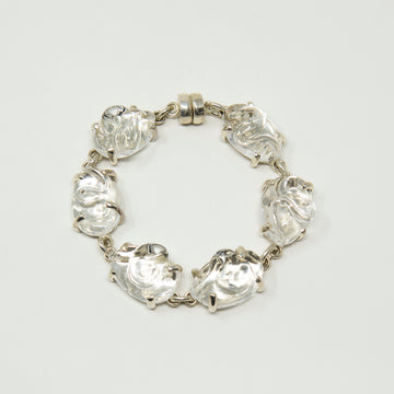 Sterling Silver and Glass Bracelet