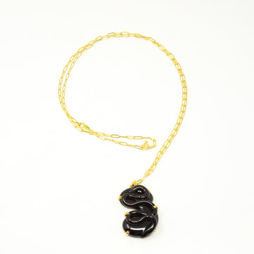 Opera Length Chain with Clear Glass Pendant in Gold Vermeil