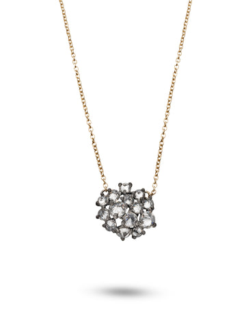Inverted Diamond Cluster Pendant