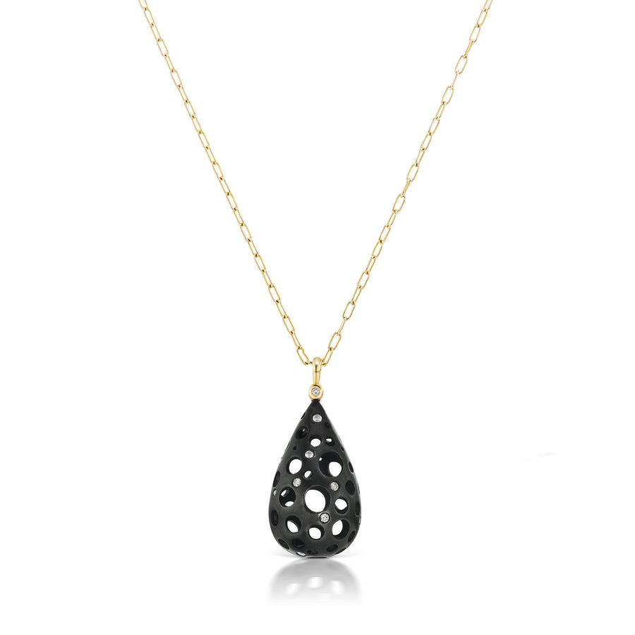 Oculus Teardrop Pendant Necklace