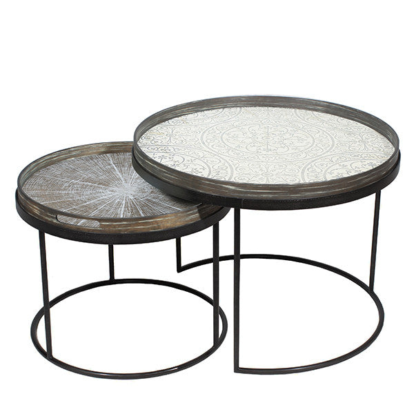 Low Round Tray Table Set