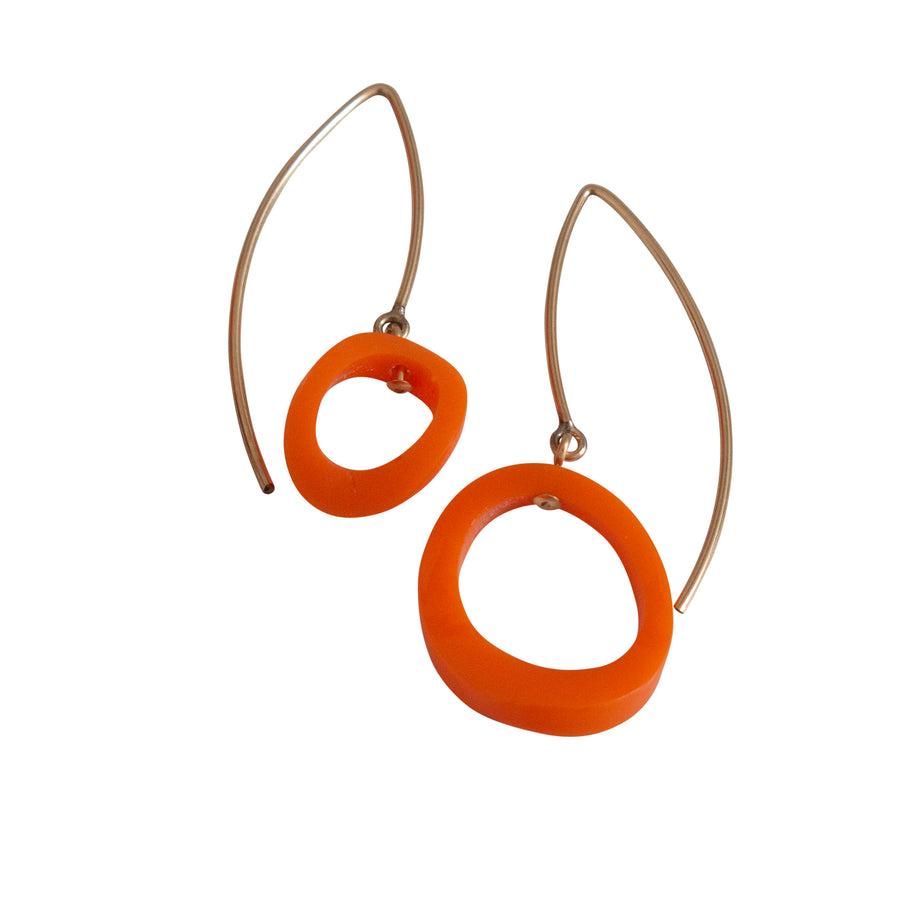 Circles On Open Wire Earrings