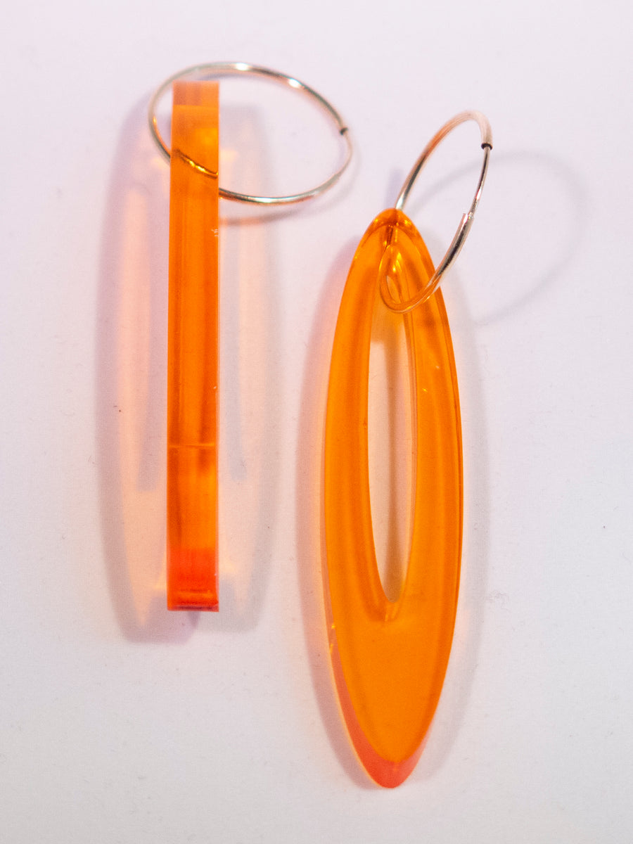 Oval Outline Earrings