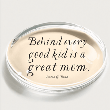 Behind every good kid Crystal Paperweight