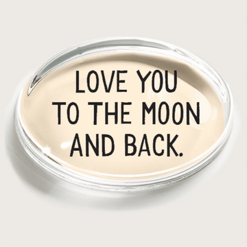 Love you to the moon Crystal Paperweight