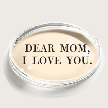 Dear Mom, I love you Crystal Paperweight
