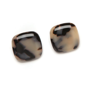 Lara Havana Clip Earrings