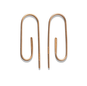 Gold Paper Clip Earrings II