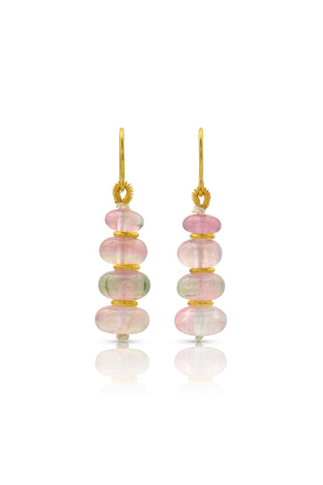 Drop Earring: Watermelon Tourmaline