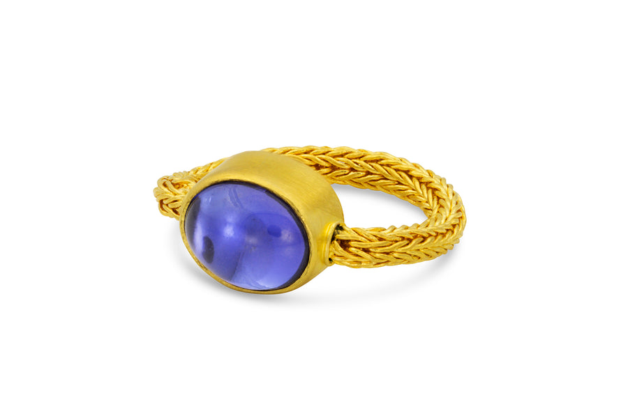 Chain Ring: Violet Tanzanite