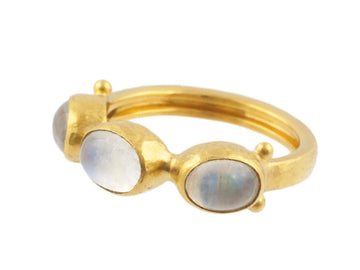 One of a Kind Pointelle Multi Moonstone Ring