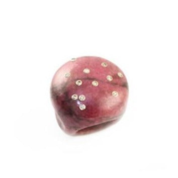 Pink Marble Large Bubble Ring