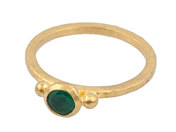 One of a Kind Rune Emerald Ring