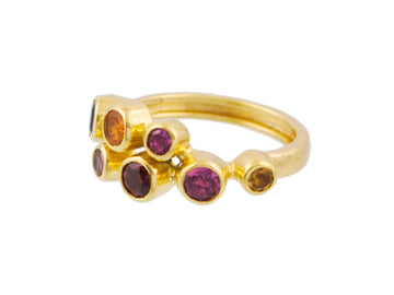 One of a Kind Pointelle Multi Stone Ring