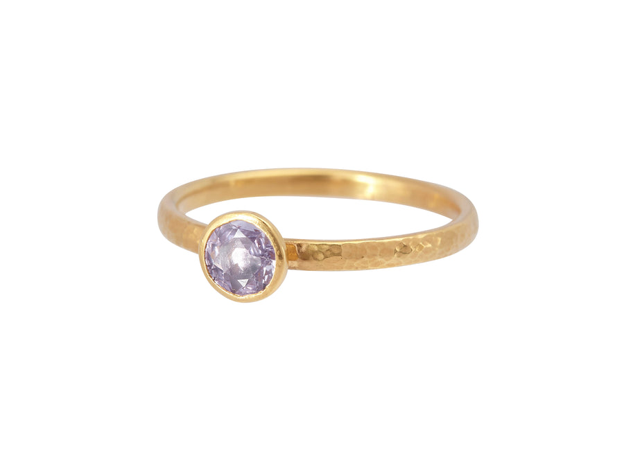 One of a Kind Rune Sapphire Stacking Ring