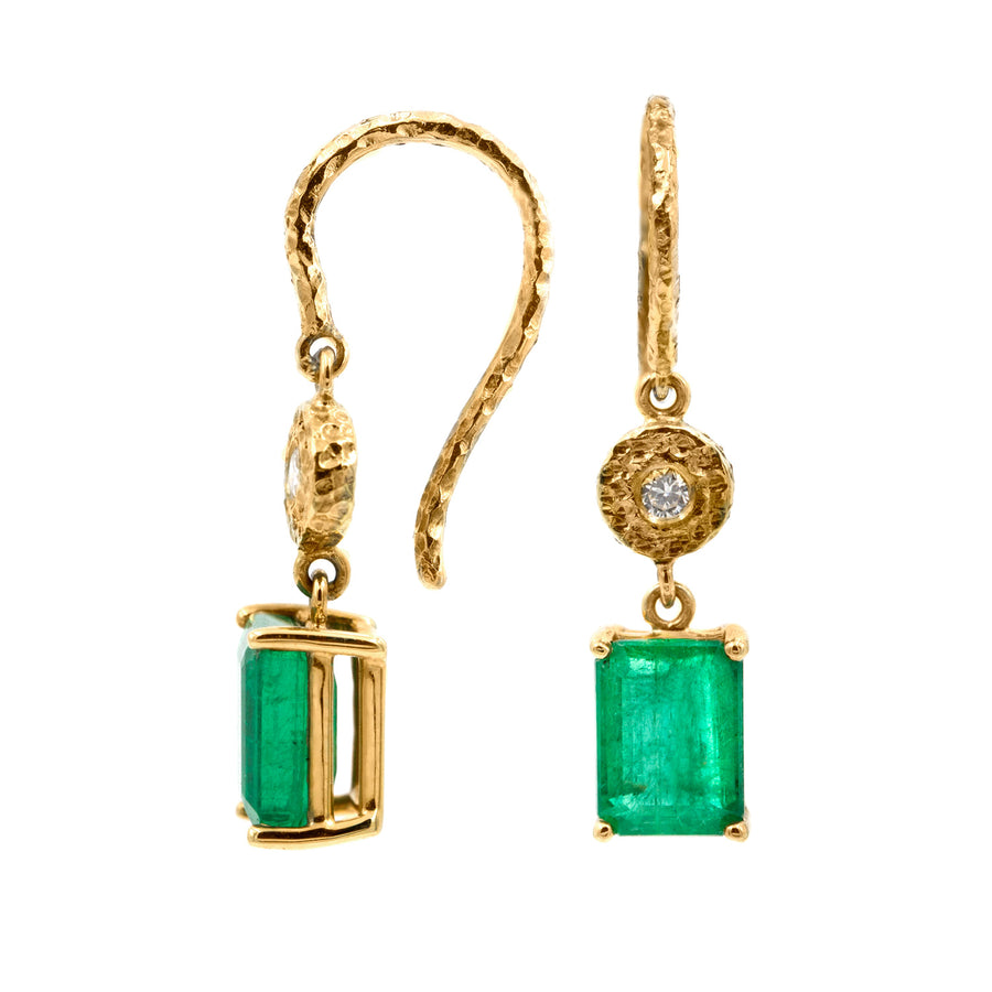Lauren Emerald Cut Earrings