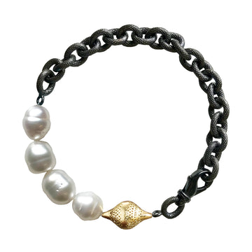 South Sea Pearl and Finial Bracelet