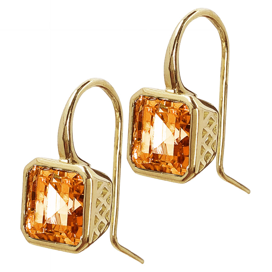 Gold Crownwork Citrine Earrings