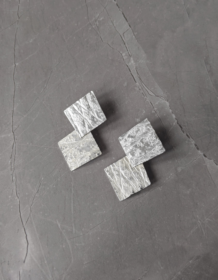 Double Layer Neolith Earrings