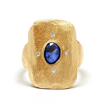 Sapphire Tablet Ring