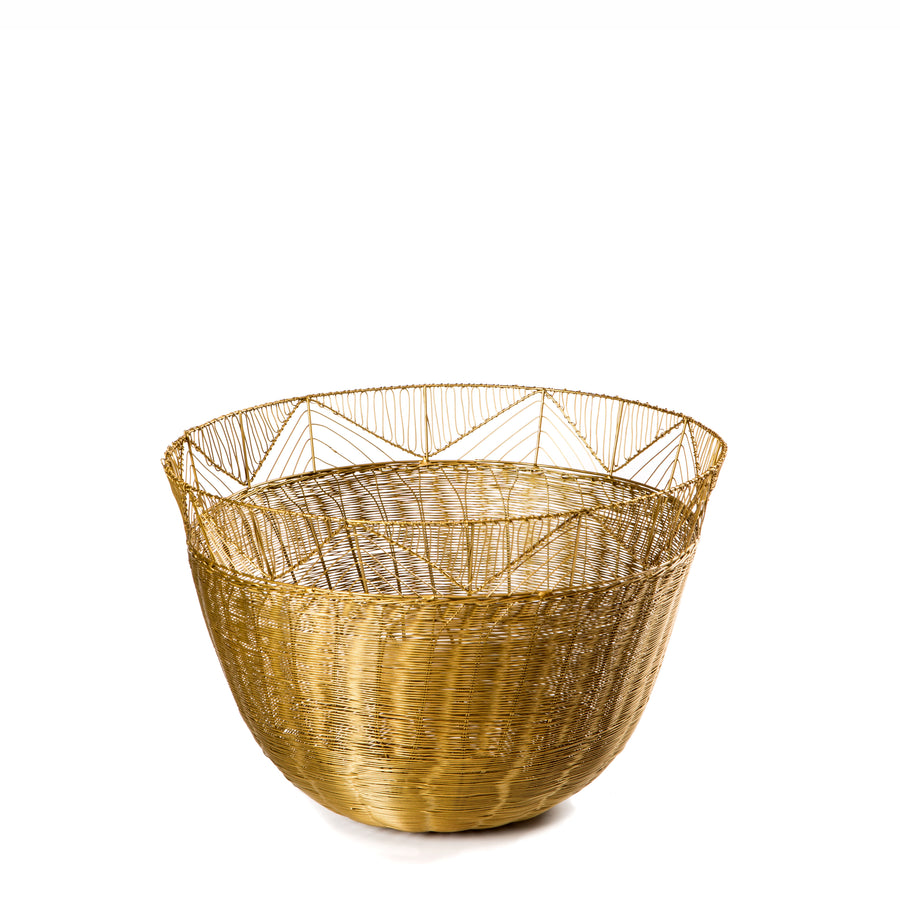 Large Tribal Woven Bowl