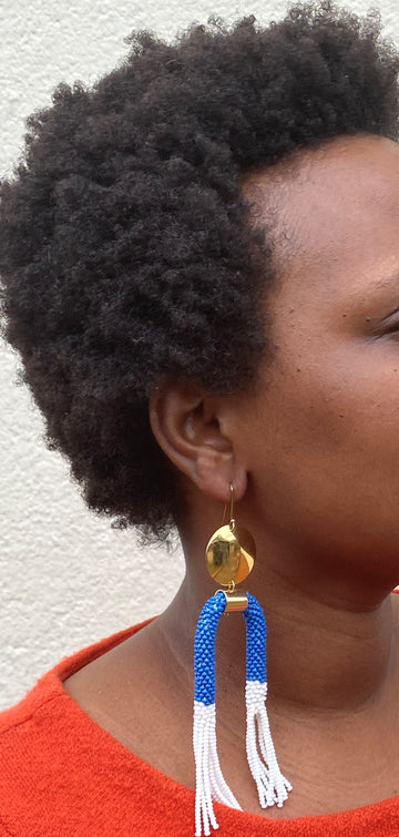 SAFIRI BRASS EARRINGS