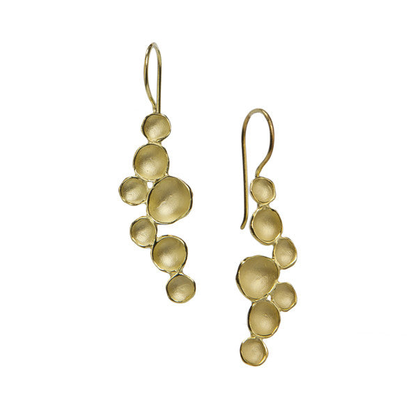 Gold Milkyway Pod Earrings - Medium