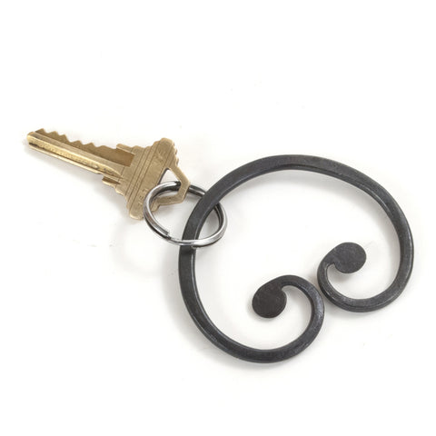 Hand Forged Steel Keyring