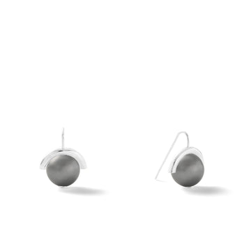 Sterling Medium Pearl Earrings