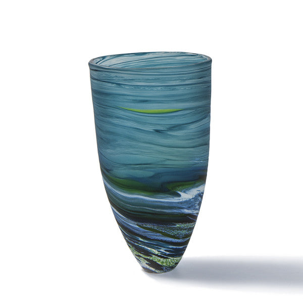 Aqua Seaspray Vase - Tall