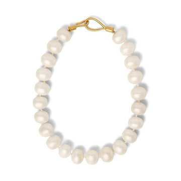 Mother of Pearl Pebble Necklace - White