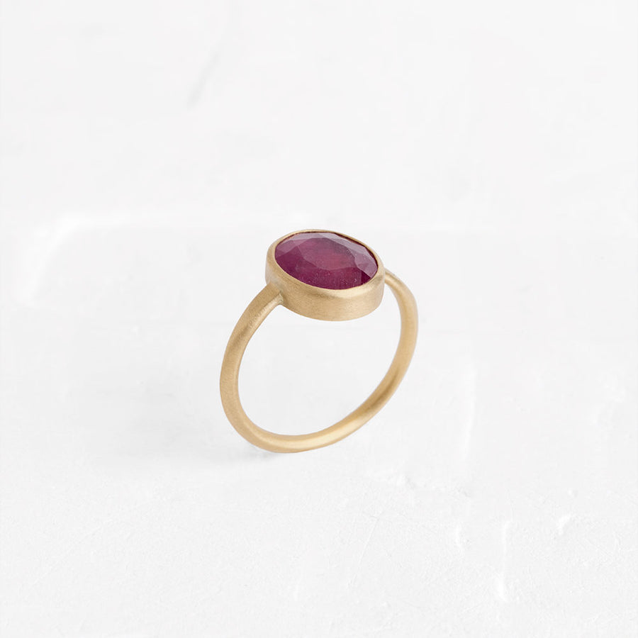 Triad Ruby Ring
