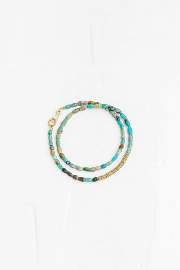 Turquoise Bracelet with Gold Links