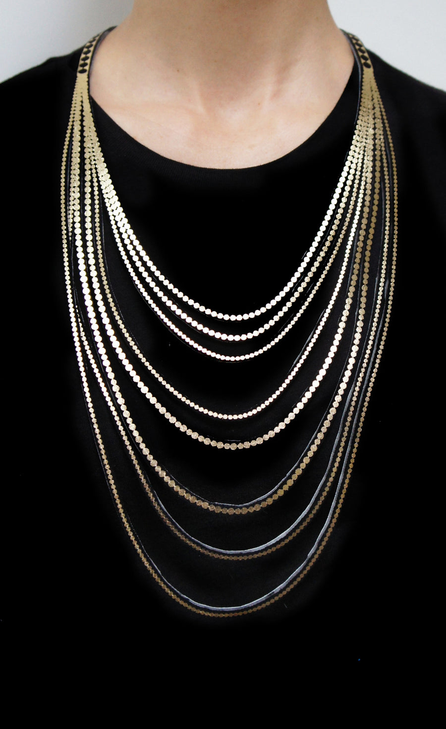 Thin Strand Pearl Necklace