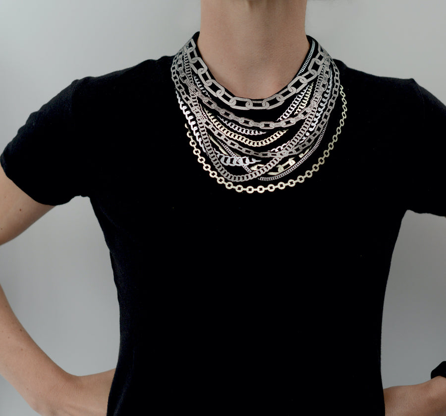 Petite Triple Chain Necklace