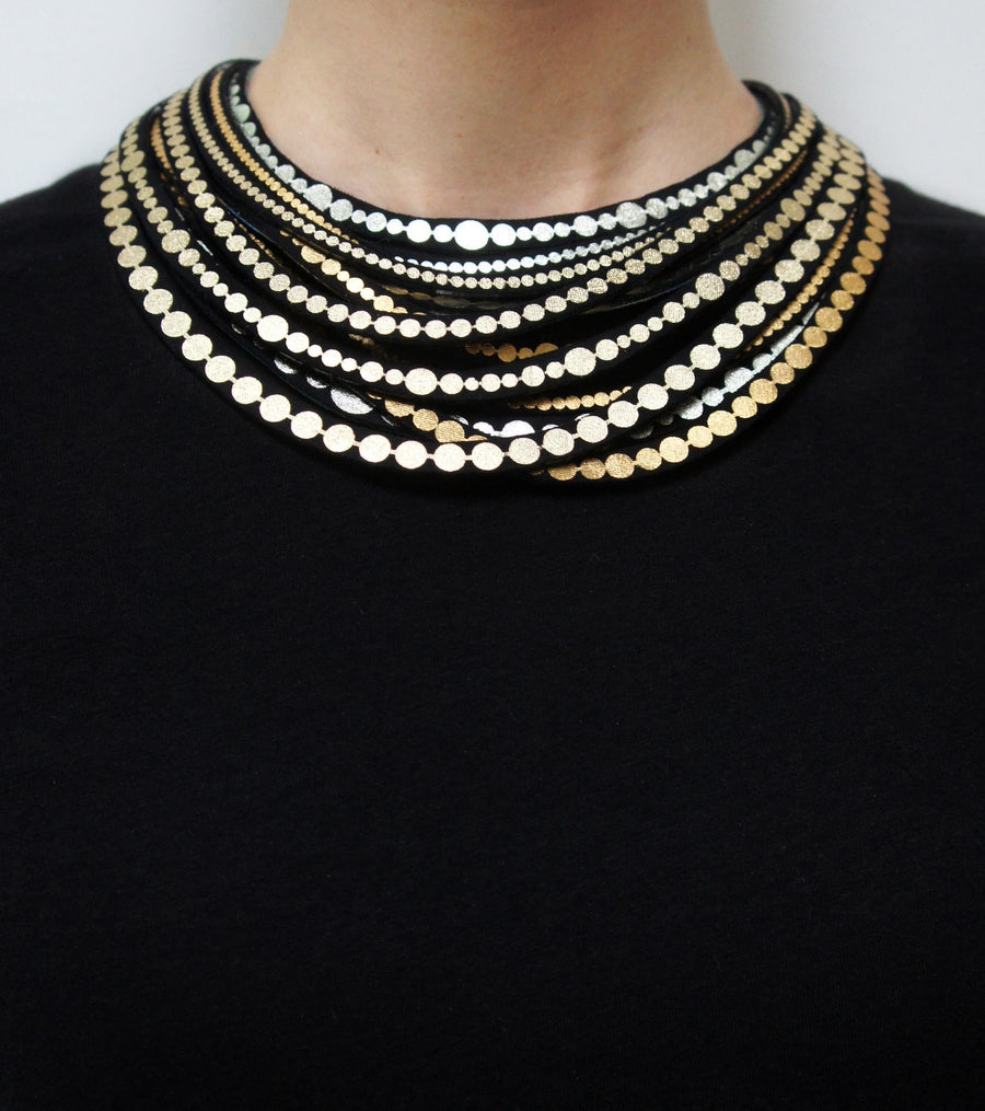 Circular Pearl Necklace