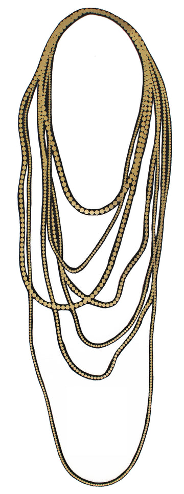 Seven Strand Long Pearl Necklace