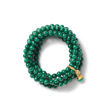 Sally cluster bracelet- Malachite