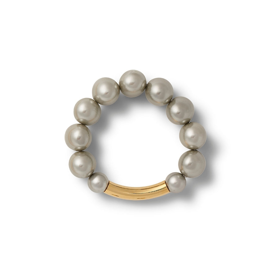 Large pebble pearl bracelet- Grey