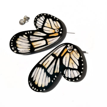 Half Butterfly Metona Grandiosa XL Earrings