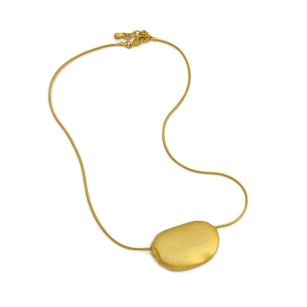 Large Stone Necklace -- Gold