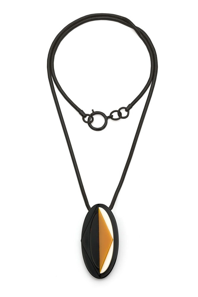 Ventura Geo Reversible Pendant Necklace