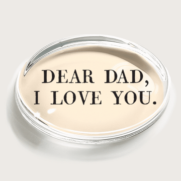 Dear Dad I love you Crystal Paperweight