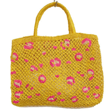 Leopard Tote- Yellow/ Pink