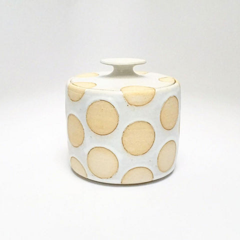 White Polka Dot Jar