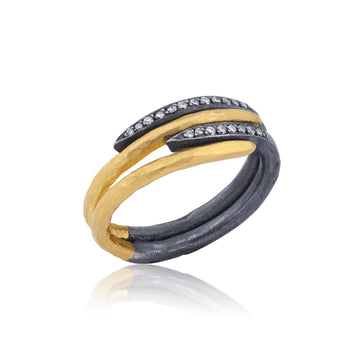 Four Layer Zebra ring